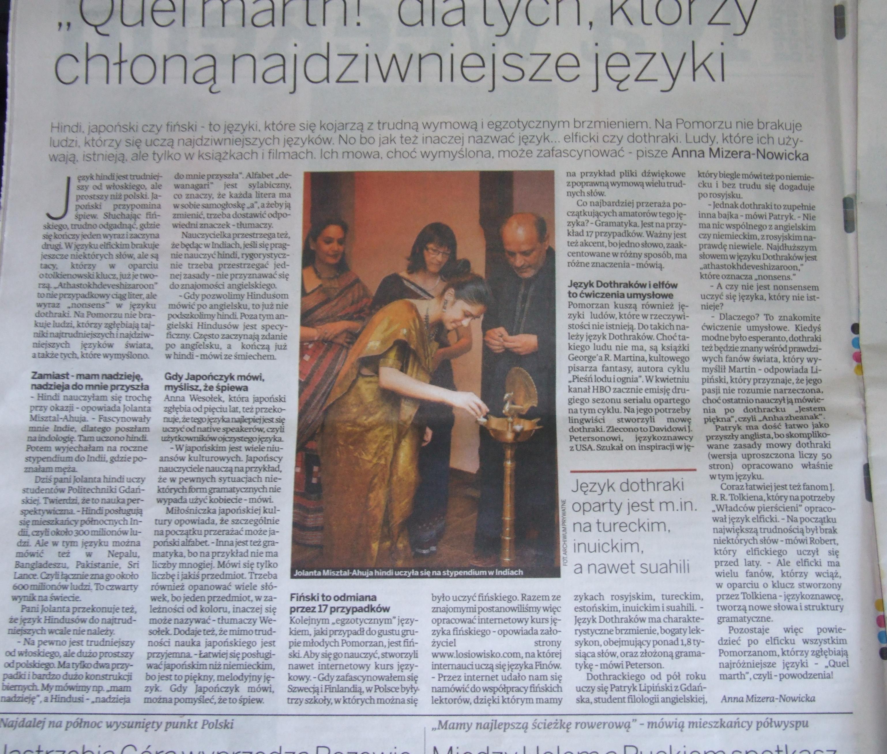 Artykuł w prasie